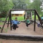 На детската площадка при музея на совите