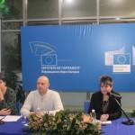 отдясно наляво: В. Рътарова - ръководител на проекта, М. Иванов - координатор на проекта и Сн. Петрова - директор на ДПП Витоша